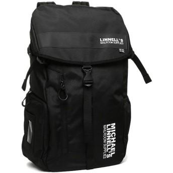【送料無料】マイケルリンネル バッグ MICHAEL LINNELL ML-008 BIG BACKPACK 約30L メンズ リュック・バックパック BLACK A4対応