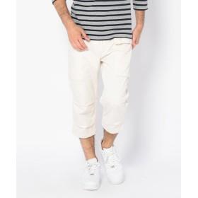 【30%OFF】 アヴィレックス エアロ クロップド パンツ/ BU AERO CROPPED PANTS メンズ OFF/WHITE L 【AVIREX】 【セール開催中】