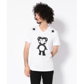 ロイヤルフラッシュ TANTA/タンタ/クリスタル SUPER STAR Tシャツ メンズ WHITE L 【RoyalFlash】