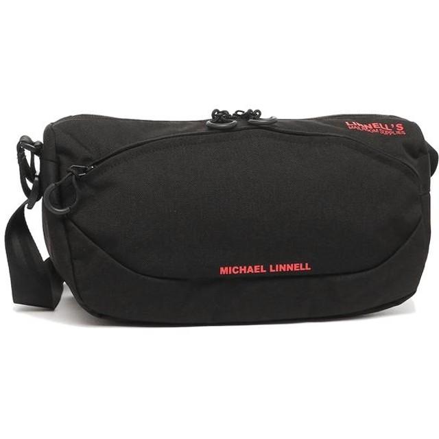 マイケルリンネル バッグ MICHAEL LINNELL mlcd600 red ショルダー メンズ ショルダーバッグ 無地 Black Red 黒
