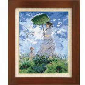 ししゅうキット 7215(オフホワイト) アートギャラリー 「日傘をさす女」モネ作