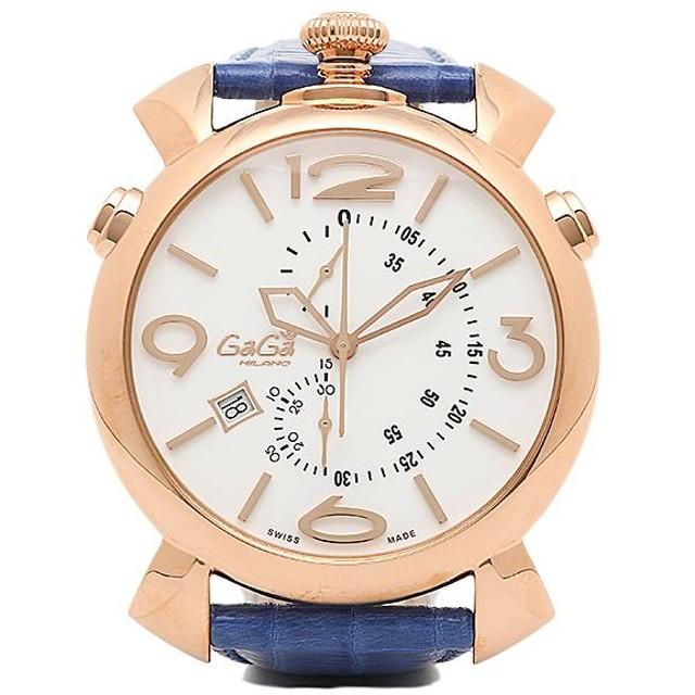17885ad370 【送料無料】ガガミラノ 時計 メンズ GAGA MILANO 5098.01BT THINCHRONO シンクロノ 46MM 腕時計 ウォッチ