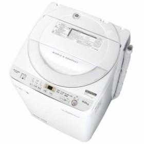 シャープ ES-GE6C-W(ホワイト) 全自動洗濯機 上開き 洗濯6kg