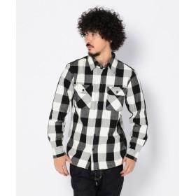 アヴィレックス AVIREX/アヴィレックス/デイリー フランネル ブロックチェックシャツ/FLANNEL BROCK CHECK SHIRT メンズ WHITE S 【AVIREX】