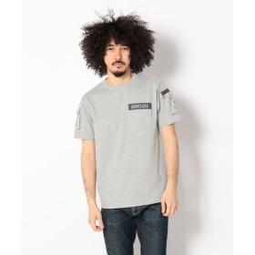 アヴィレックス AVIREX/アヴィレックス/ファティーグ Tシャツ/FATIGUE T SHIRT メンズ GREY S 【AVIREX】