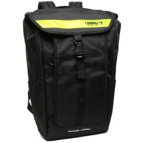 【送料無料】【P10倍 11/18 9:59マデ】【返品OK】マイケルリンネル バッグ MICHAEL LINNELL ML025 Box Backpack メンズ/レディース リュック・バックパック 無地 Black Yellow 黒