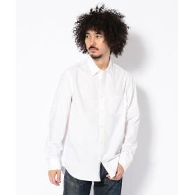 【20%OFF】 アヴィレックス AVIREX/アヴィレックス/ 長袖 プレーンシャツ/ DS LS PLAIN SHIRT メンズ WHITE M 【AVIREX】 【セール開催中】