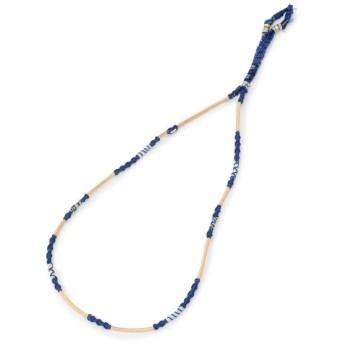 ロイヤルフラッシュ WAKAMI/ワカミ/Leather Necklace/レザー ネックレス メンズ BLUE 00 【RoyalFlash】