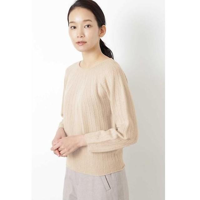 HUMAN WOMAN / ヒューマンウーマン ≪Japan couture≫ホールガーメント求心柄プルオーバー