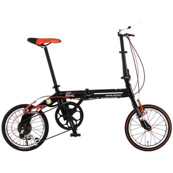 DOPPELGANGER 111 Roadfly カーボンブラック/フラッシュオレンジ [16型折りたたみ自転車] 折りたたみ自転車・ミニベロ