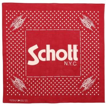 ショット Schott/ショット/COTTON BANDANA POLKA DOTS/バンダナ ポルカドット メンズ RED F 【Schott】