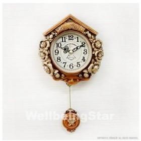 掛け時計 ティーニーローズブラウン 振り子時計 壁掛け時計 おしゃれ 掛時計 北欧 時計 インテリア 振り子時計