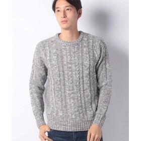 【51%OFF】 マルカワ セーター ケーブル 編み メンズ ミディアムグレー M 【MARUKAWA】 【セール開催中】