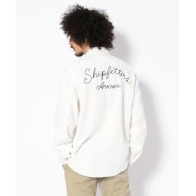【30%OFF】 アヴィレックス TYPE BLUE by AVIREX/ 長袖 インディゴチェック ワークシャツ/ LS INDIGO CHECK WORK SHIRT メンズ WHITE XL 【AVIREX】 【セール開催中】