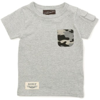 【30%OFF】 アヴィレックス AVIREX/アヴィレックス/ 迷彩ポケット Tシャツ/ CAMOUFLAGE POCKET T SHIRT レディース GREY M 【AVIREX】 【セール開催中】
