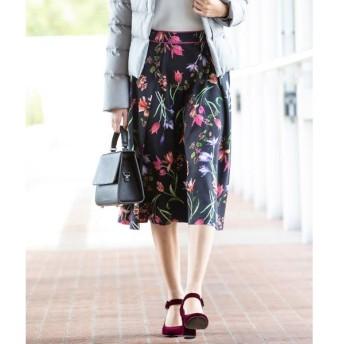 Viaggio Blu / ビアッジョブルー 【4サイズ展開】ピーチフラワープリントスカート