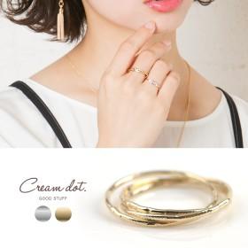 【ゆうパケットOK】リング 指輪 3連リング ゴールド 金 シルバー 銀 レディース シンプル デザイン 重ね着け 人気 流行 ブランド デザインリング プレゼント アクセサリー アクセ 大
