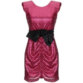 《セール開催中》ANNARITA N レディース ミニワンピース&ドレス フューシャ 42 ポリエステル 100% / コットン / ポリウレタン