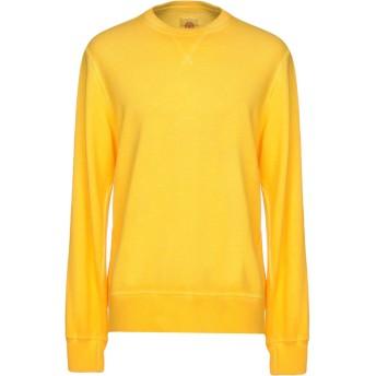 《セール開催中》FRANKLIN & MARSHALL メンズ スウェットシャツ イエロー L コットン 70% / ポリエステル 30%