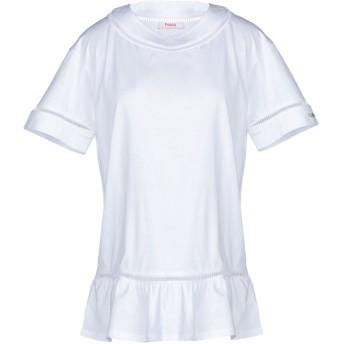 《9/20まで! 限定セール開催中》BLUGIRL FOLIES レディース T シャツ ホワイト 40 コットン 100%