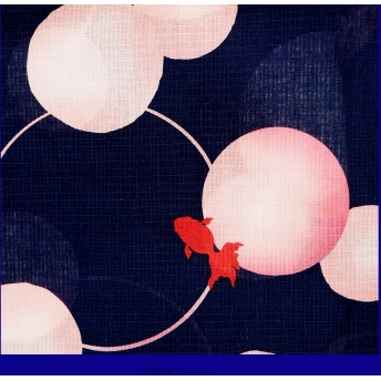 浴衣 - Ainokajitsu 女性浴衣 レディース浴衣 浴衣 単品 浴衣単品 仕立て上がり レディース 女性用 フリー ネイビー 金魚 水玉 ピンク 変わり織 お洒落