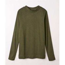 吸湿発熱。静電気防止加工付レーヨン混しなやかプチハイネックTシャツ (Tシャツ・カットソー)(レディース)T-shirts