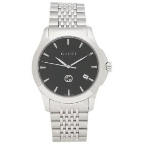 【送料無料】【返品OK】グッチ 時計 GUCCI YA1264106 Gタイムレス クロノグラフ メンズ腕時計 ウォッチ シルバー/ブラック