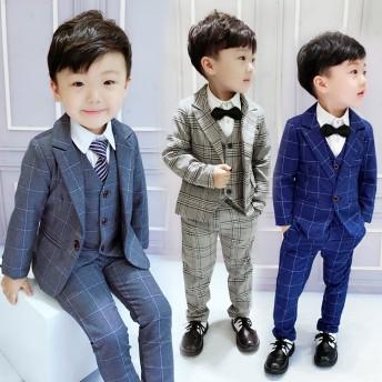 【即納】卒業式 スーツ 男の子 子供服 七五三 入学式 フォーマル 男の子 子供 スーツ キッズ ベビー フォーマル 黒 90 100 110 120 130 140 結婚式 ピアノ