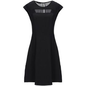 《セール開催中》ANNARITA N レディース ミニワンピース&ドレス ブラック 40 ポリエステル 77% / レーヨン 17% / ポリウレタン 6%