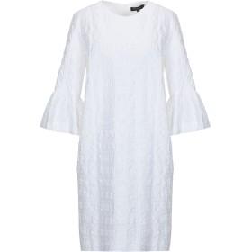 《期間限定 セール開催中》ANTONELLI レディース ミニワンピース&ドレス ホワイト 40 コットン 98% / ポリウレタン 2%
