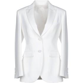 《セール開催中》NEIL BARRETT レディース テーラードジャケット ホワイト 46 トリアセテート 71% / ポリステロール 29%