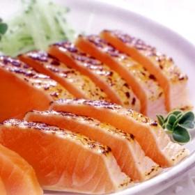 北海道サーモンたたき〔炙り〕(秋鮭)【1kg】(約1kg(2~3本))