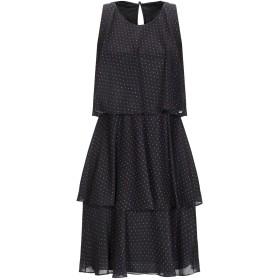 《セール開催中》FRANKIE MORELLO レディース ミニワンピース&ドレス ブラック 44 ポリエステル 100%