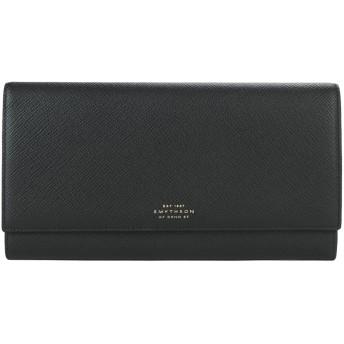 《セール開催中》SMYTHSON レディース ドキュメントホルダー ブラック 牛革(カーフ) PANAMA marshall trvl wallet
