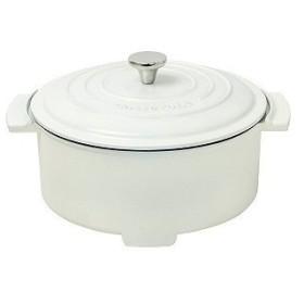 山善 グリル鍋 「Casserolle(キャセロール)」(プレート1枚) YGC−800−W ホワイト