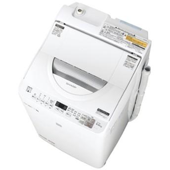 シャープ5.5kg洗濯乾燥機keyword キーワードホワイトEST5E6KW