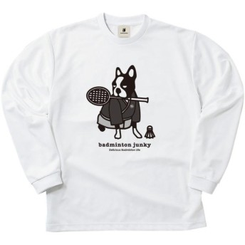 soccer junky(サッカージャンキー) ロングDryTEE サムライ犬 BDJ18512 ホワイト XL