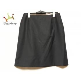プラダ PRADA スカート サイズ42 M レディース 美品 ダークグレー     スペシャル特価 20190829【人気】