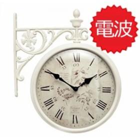 両面電波時計 掛け時計 Interior Double Face Wall Clock おしゃれな  インテリア 両面壁掛け時計 電波両面時計 M195 Iv-F6