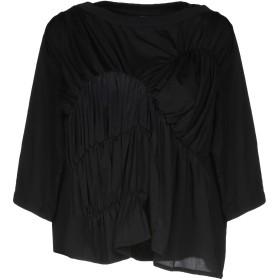 《送料無料》CARVEN レディース トップス ブラック XS 指定外繊維(テンセル) 94% / ポリウレタン 6%