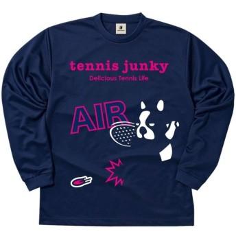soccer junky(サッカージャンキー) ロングDryTEE エアー犬! TJ18513 ネイビー S