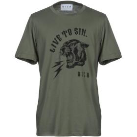 《期間限定セール開催中!》JOHN RICHMOND メンズ T シャツ ミリタリーグリーン S コットン 100%