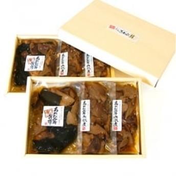 滋賀県竜王町産ヘルシーきのこ「足太あわび茸」の山椒煮と昆布煮の【佃煮6袋セット】箱入り
