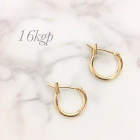 【k16gp】極小シンプル 華奢ナチュラル フープピアス 10mm