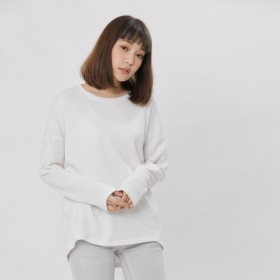 French Terry コットン Tシャツ /White