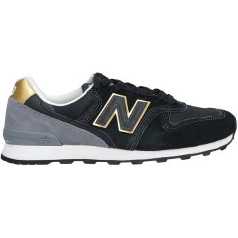 《セール開催中》NEW BALANCE レディース スニーカー&テニスシューズ(ローカット) ブラック 7 革 / 紡績繊維