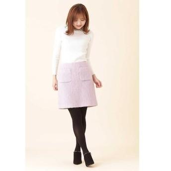 PROPORTION BODY DRESSING / プロポーションボディドレッシング  シャギー2ポケット台形ミニスカート