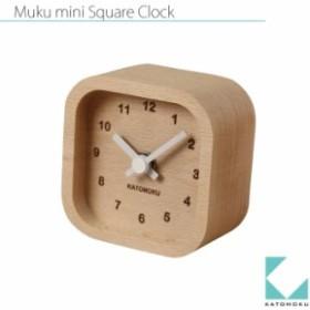 KATOMOKU muku mini square clock km-25白
