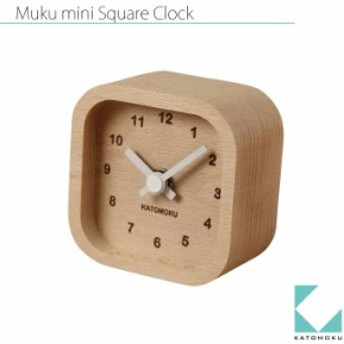 KATOMOKU muku mini square clock km-25白