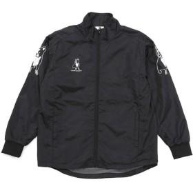 soccer junky(サッカージャンキー) ウィンドブレーカージャケット 振リ向クナ君ハ美シイAメロ CP18565 ブラック M